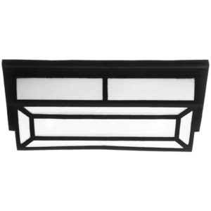 BRIGHT STAR BH3080 Black Bulkhead With Pattern Cover, 60W, 2 x E27, Die Cast Aluminium