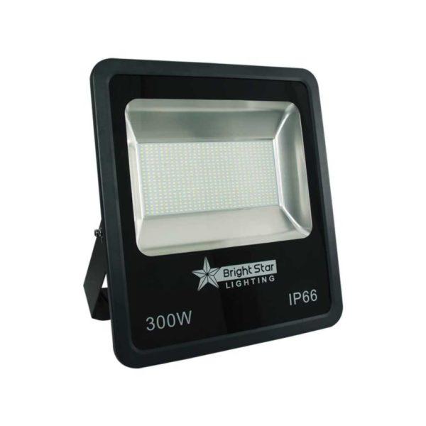 BRIGHT STAR FL005 LED Flood Light, IP66, Aluminium, 300W, Black