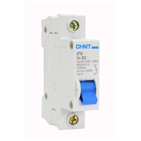 EUROLUX 1 Pole 50AMP Circuit Breaker, 3kA, 50/60Hz