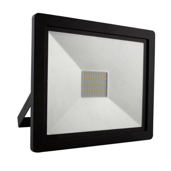 EUROLUX 100W LED Floodlight, 4000K, Black