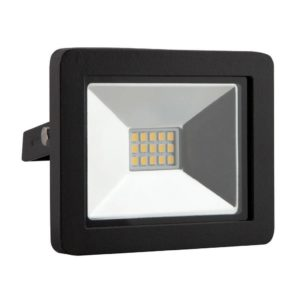 EUROLUX 10W LED Floodlight, 4000K, Black