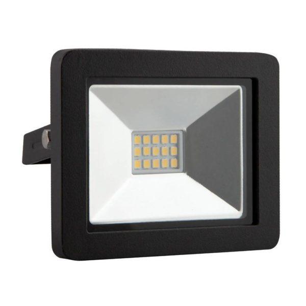 EUROLUX 10W LED Floodlight, 4000K, Black