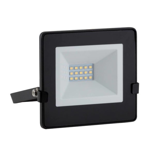 EUROLUX 10W LED Floodlight With Day/Night Sensor, Cool White