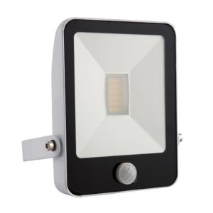 EUROLUX 10W LED Floodlight With Motion Sensor & Remote, 4000K, White