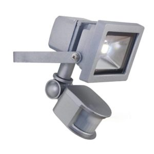 EUROLUX 10W LED Floodlight With Motion Sensor, Silver