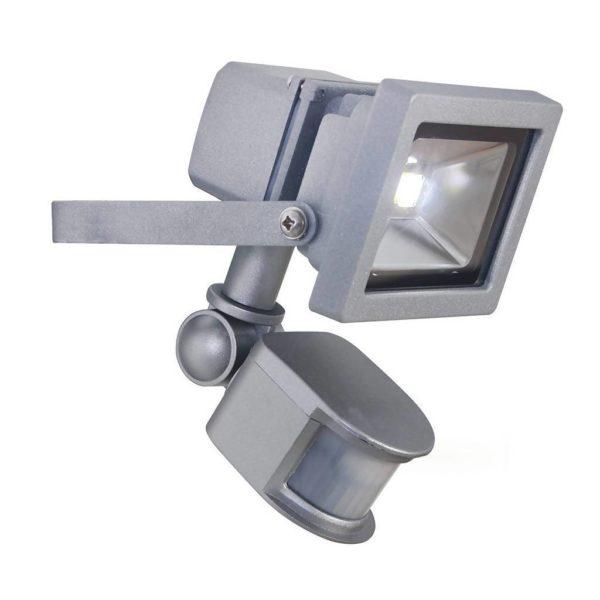 EUROLUX 10W LED Floodlight With Motion Sensor, Silver