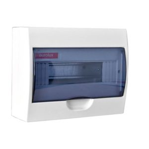 EUROLUX 12 Way Din Rail Distribution Board, Plastic, Surface Mounted
