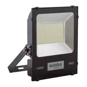 EUROLUX 150W LED Floodlight, 6500K, Black