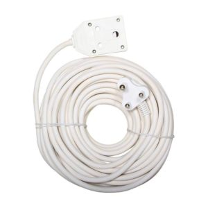 EUROLUX 20m Extension Lead, 2 x 16A, White