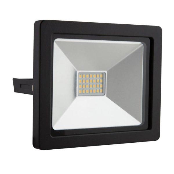 EUROLUX 20W LED Floodlight, 4000K, Black