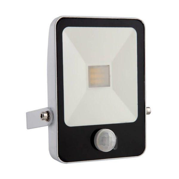 EUROLUX 20W LED Floodlight With Motion Sensor & Remote, 4000K, White