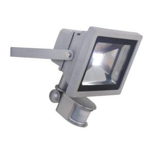 EUROLUX 20W LED Floodlight With Motion Sensor, Silver