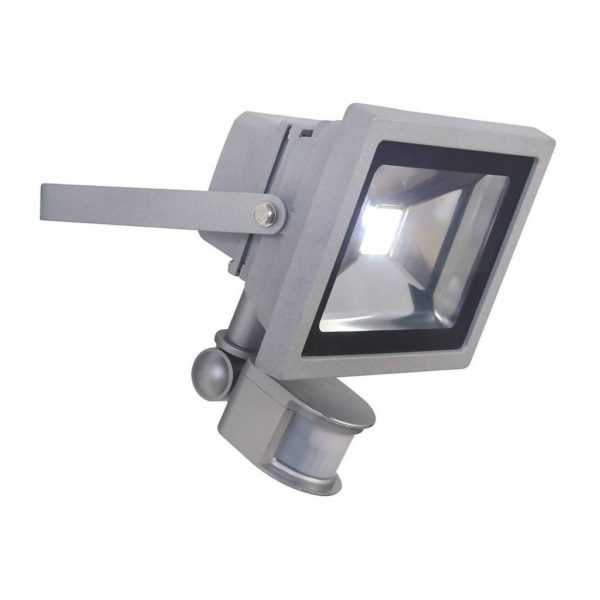 EUROLUX 20W LED Floodlight With Motion Sensor, Silver