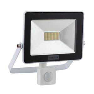 EUROLUX 20W LED Floodlight With Motion Sensor, White