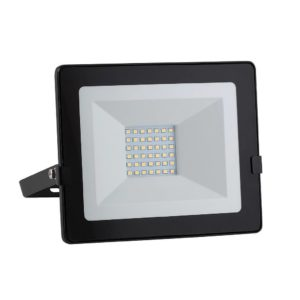 EUROLUX 30W LED Floodlight With Day/Night Sensor, Cool White