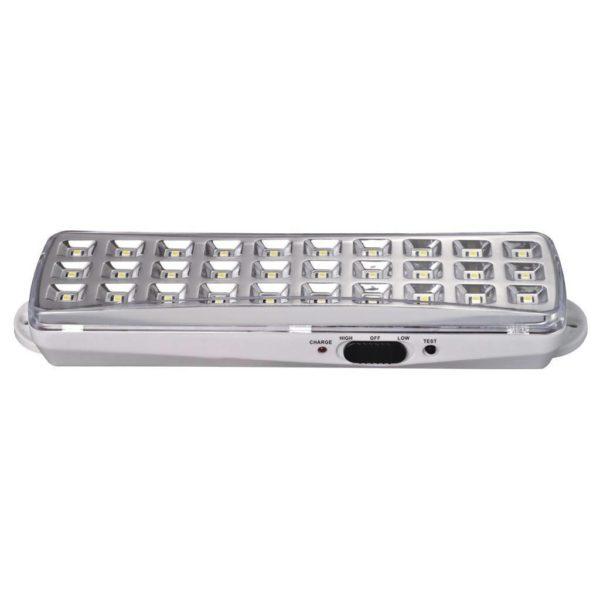EUROLUX 3.7V 1.2AH Rechargeable LED Emergency Light, 30 LED