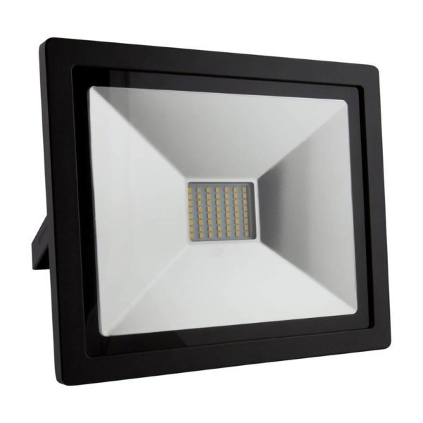 EUROLUX 50W LED Floodlight, 4000K, Black