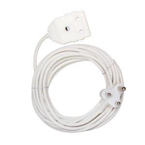 EUROLUX 5m Extension Lead, 2 x 16A, White