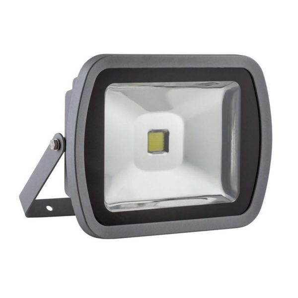 EUROLUX 80W LED Floodlight, 6500K, Silver