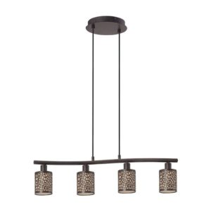 EUROLUX Almera P653 Pendant, 4 Light, Antique Brown