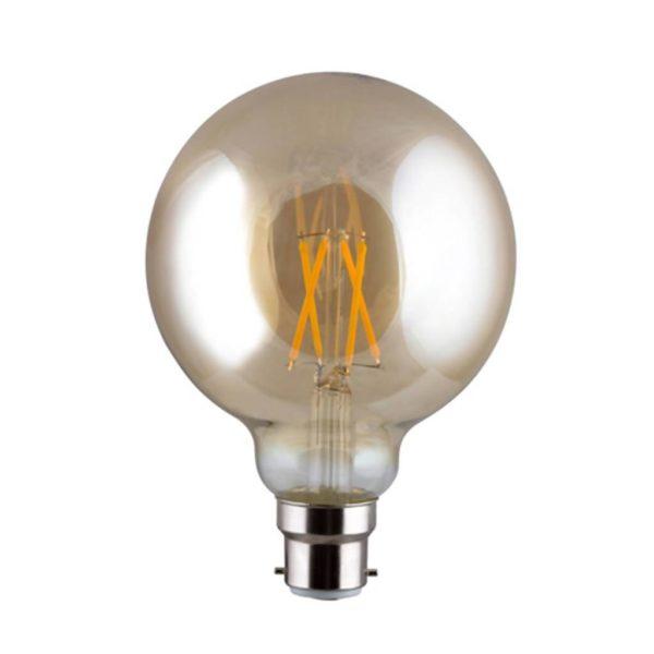 EUROLUX Amber LED Filament Mini Maxi, B22, 4W, Warm White