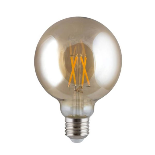 EUROLUX Amber LED Filament Mini Maxi, E27, 4W, Warm White
