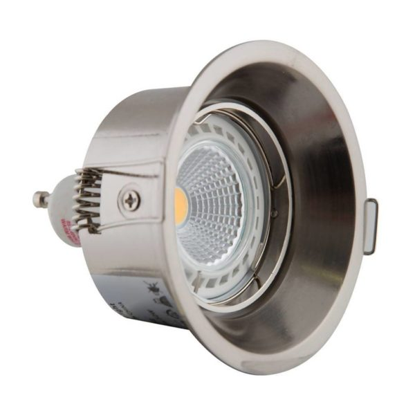 EUROLUX Anti-Glare Downlight, GU10, Satin Chrome