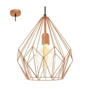 EUROLUX Carlton P704C Pendant, 1 Light Copper