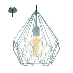 EUROLUX Carlton P704MT Pendant, 1 Light, Mint