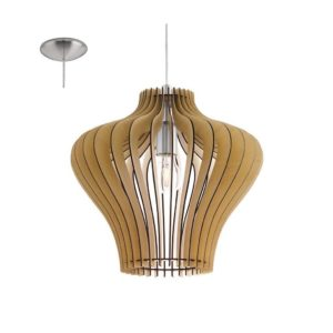 EUROLUX Cossano P138M Pendant, 1 Light, Maple Wood