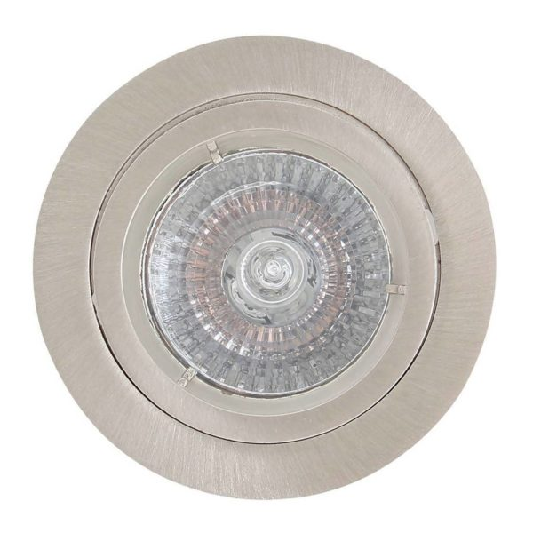 EUROLUX Downlight, Aluminium Straight Twist, GU10, Satin Chrome