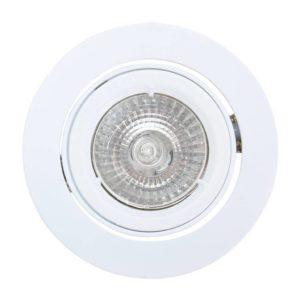 EUROLUX Downlight, Aluminium, Twist Tilt, GU10, White