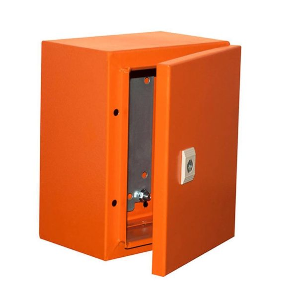 EUROLUX Electrical Enclosure, 250mm x 200mm, Steel, Orange