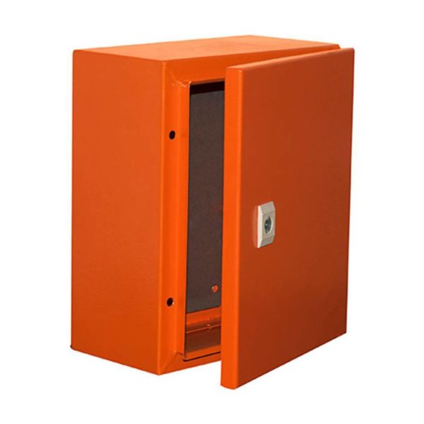 EUROLUX Electrical Enclosure, 300mm x 250mm, Steel, Orange