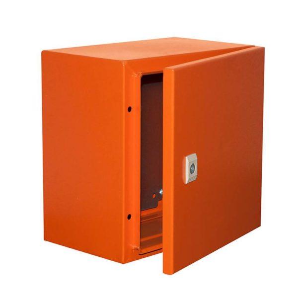 EUROLUX Electrical Enclosure, 300mm x 300mm, Steel, Orange