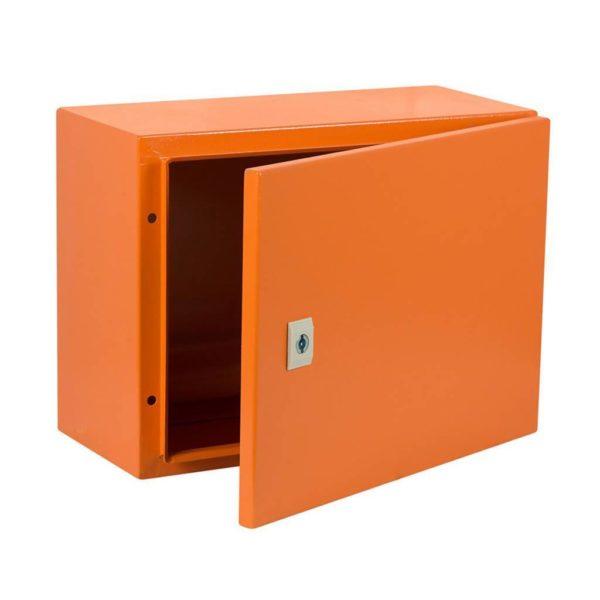 EUROLUX Electrical Enclosure, 300mm x 400mm, Steel, Orange