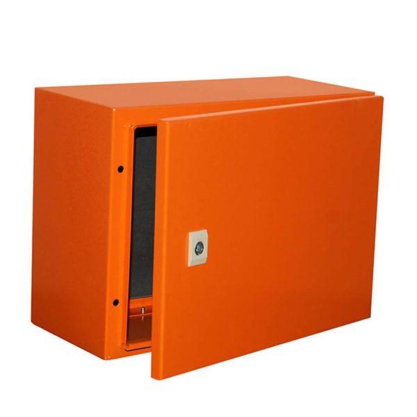 EUROLUX Electrical Enclosure, 400mm x 300mm, Steel, Orange