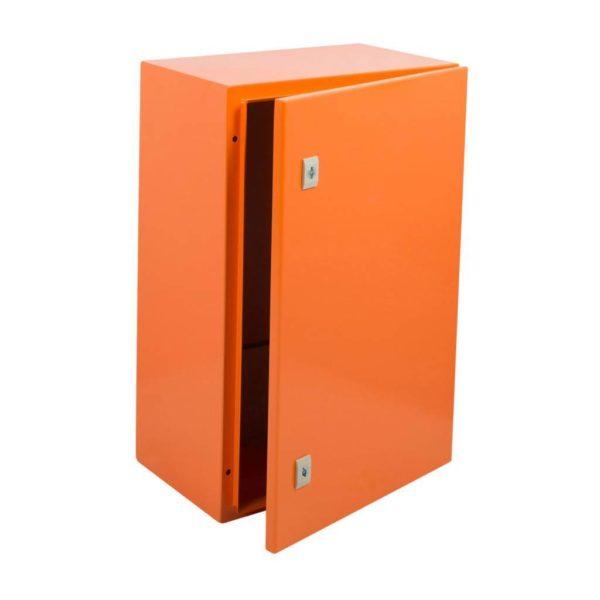 EUROLUX Electrical Enclosure, 600mm x 400mm, Steel, Orange