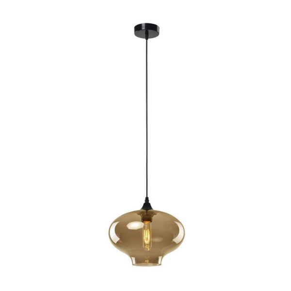 EUROLUX Elixir P433CHA Pendant, 1 Light, Electroplating In Champagne
