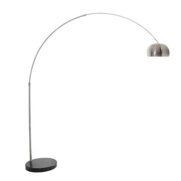 EUROLUX FL101 Arched Floor Light, E27, 60W, Satin Nickel