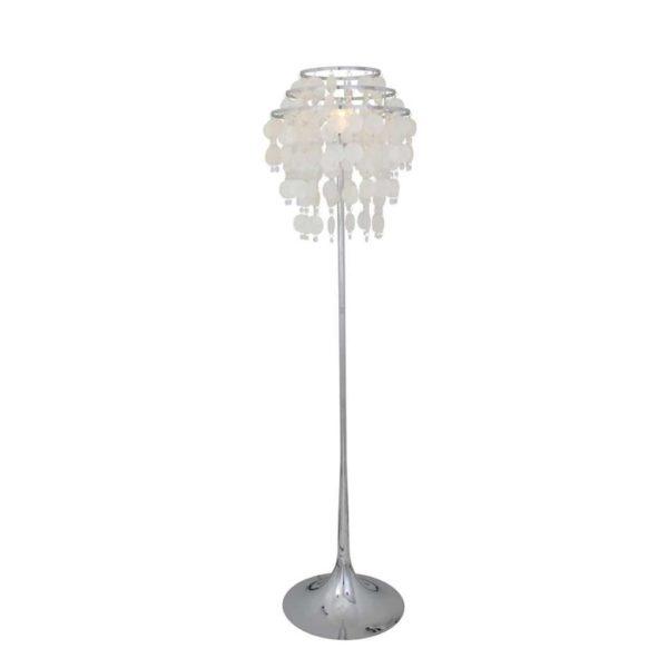 EUROLUX FL112 Chipsy Floor Light, E27, 60W, Steel Base, Crystal & Shells Shade
