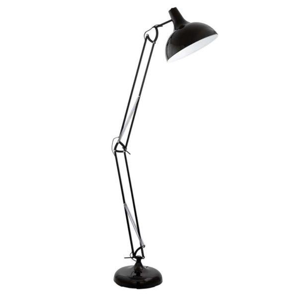 EUROLUX FL188B Borgillio Floor Light, E27, 60W, Black