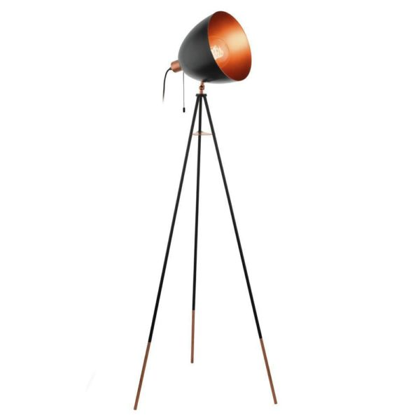 EUROLUX FL202 Chester Floor Light, E27, 60W, Black & Copper Hungry