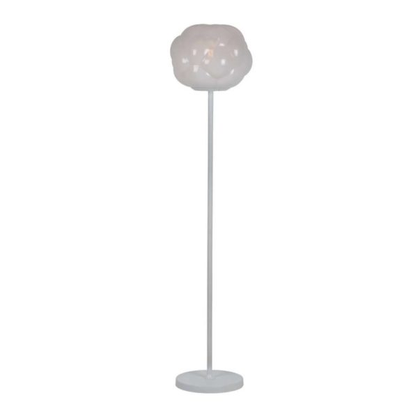EUROLUX FL216 Athens Floor Light, E27, 40W, Opal & Clear Glass, White