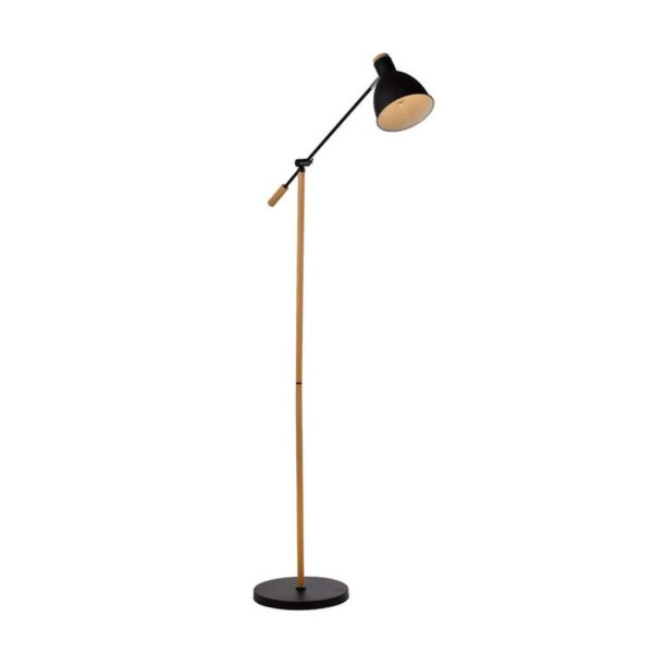 EUROLUX FL218B Tai Floor Light, E27, 40W, Black & Wood
