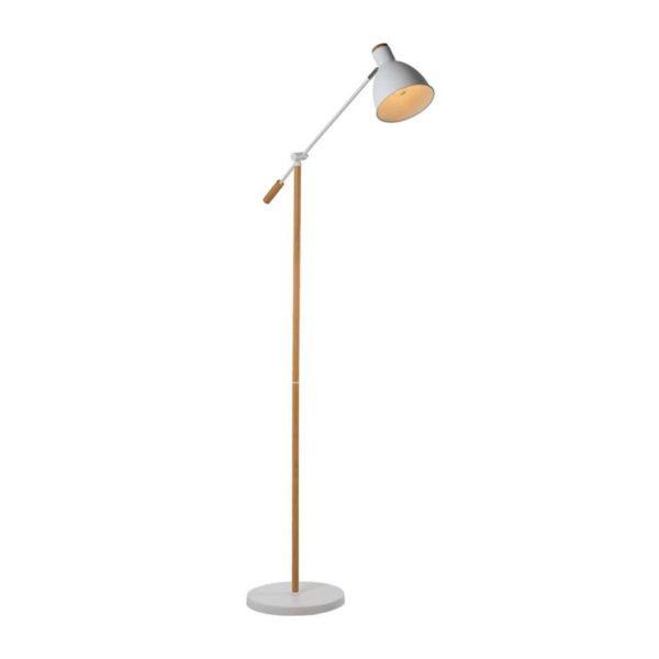 EUROLUX FL218W Tai Floor Light, E27, 40W, White & Wood