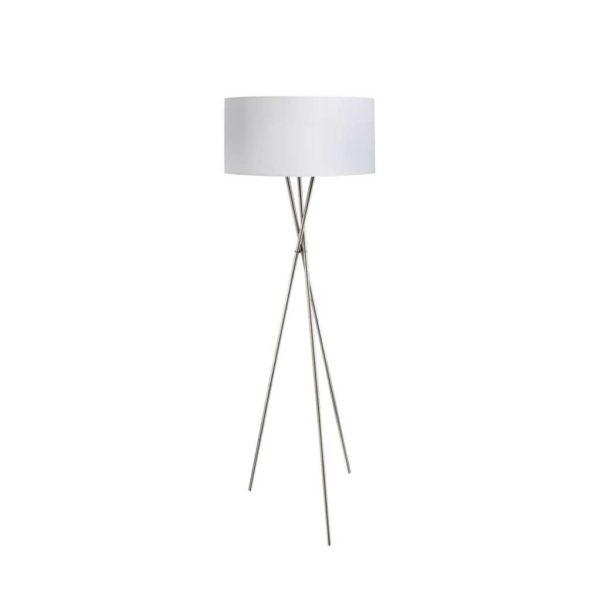 EUROLUX FL21W Fondachelli Floor Light, E27, 60W, White & Chrome