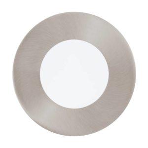 EUROLUX Fueva 1 Round Recessed Luminaire Downlight, 2.7W, 3000k, Satin Nickel