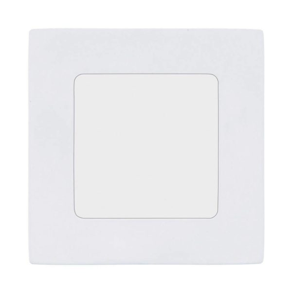 EUROLUX Fueva 1 Square Recessed Luminaire Downlight, 7W, 3000k, White