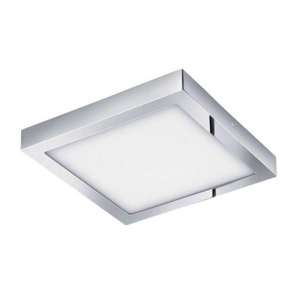 EUROLUX Fueva 1 Square Surface Mounted Luminaire Downlight, 22W, 3000k, Chrome